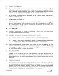 Client Confidentiality Agreement Template Fresh Writing A Contract ...