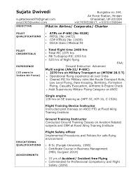 Pilot Resume Examples Appealing In Professional With Template