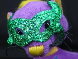 Purple Green Purple Green Kitty Yellow Happy Mardi Grass Kitty Green Cat Green