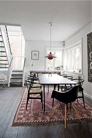 again white backdrop modern furniture persian rug diffe chairs around dining table