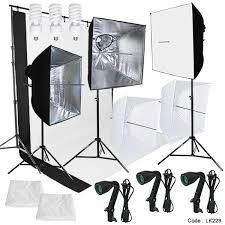 photography lighting muslin backdrop stand studio kit 3 backdrop 3 light bulb