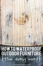 Outdoor Cedar TablesOutdoor Furniture Sealer