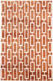 orange pattern rug  rugs ideas