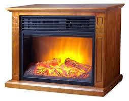 electric fireplace heater infrared inch 3 element mantel oak new hampton bay 48 wall mount led