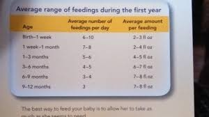 How Much Formula For Newborn Chart Baby Formula Chart How Many Oz To Feed I Used This As A