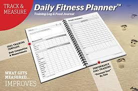 Daily Goal Tracker Saltwrap The Daily Fitness Planner Best Weight Training Log Food