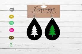 Tree Earrings Graphic By Scmdesign Creative Fabrica