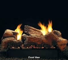 vent free gas logs empire stone river see thru 18 savannah oak in natural fireplace with