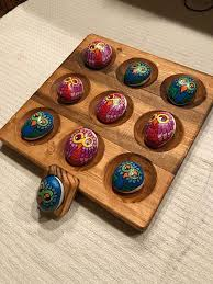 Game With Rocks And Wooden Board Impressive Owl Stone Tic Tac Toe Game Large Wood Board Nine Carved Rock Holders