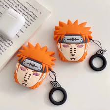 Silicone Earphone Case For Airpods 2 Case <b>3D Cartoon Naruto</b> ...