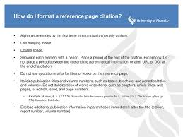 Reference Page Citations Ppt Download