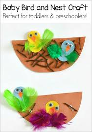 Birds Chart For Kindergarten Spring Crafts For Kids Nest And Baby Bird Craft Buggy And