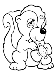 Small Picture Female Skunk Coloring Page Color Luna