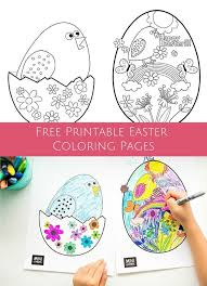 Cute Free Printable Coloring Pages To Celebrate Easter And Spring