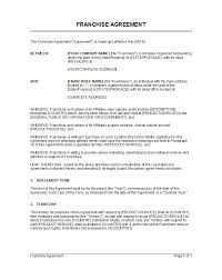 Example Of Franchise 49 Editable Franchise Agreement Templates Contracts