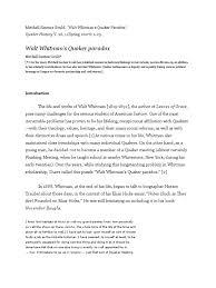 walt whitman s quaker paradox quakers walt whitman