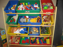 Ikea Toy Organizer Furniture Ikea Toy Storage Filled With Children Goods Such As