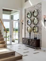 foyer wall decor stone walls interior