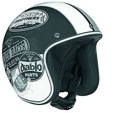 Koi Helmet Size Chart Open Face Helmet With Old Skool Graphic Flat Black