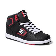 dc shoes high tops red and black. image is loading dc-shoes-black-factory-lite-mens-high-top- dc shoes high tops red and black ebay
