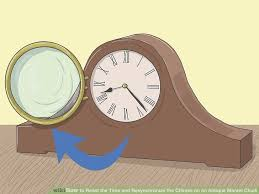 image titled reset the time and resynchronize the chimes on an antique mantel clock step 1
