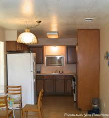 Kitchen Cabinets Refrigerator Remodelaholic Small White Kitchen Makeover With Built In Fridge