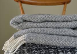tweedmill throw grey illusion fair trade rugs textiles