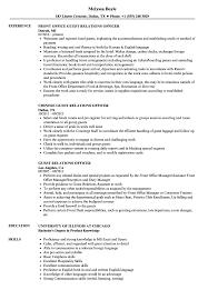 Guest Relations Officer Resume Samples Velvet Jobs