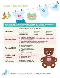 Babysitter Bio Example 3 Free Baby Sitter Resume Samples In Word