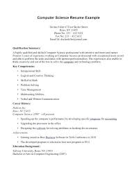 12 Good Computer Science Resume Examples Vigamassi Com