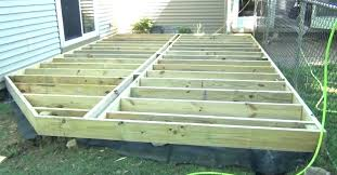 building a floating deck on uneven ground build a low deck on the ground building a building a floating deck on uneven ground