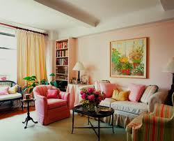 Pink Living Room Chair Apartment Fantastic Decoration With Pink Fabric Armchair And