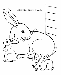 Small Picture Easter Bunny Coloring Pages Bunny Family free printable Easter