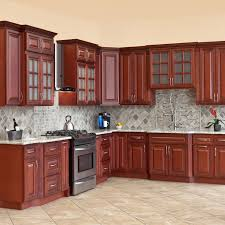10x10 All Solid Wood Kitchen Cabinets Cherryville Rta 816124022480