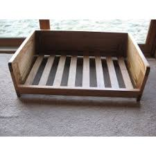 wooden dog bed cushion support frame