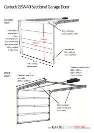carteck sectional doors technical details carteck garage doors from garage doors uk