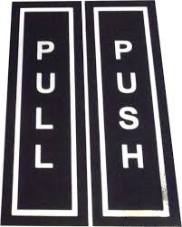 door push pull push and pull signs for glass doors