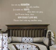 Small Picture Wall Decoration You Are My Sunshine Wall Sticker Uk Lovely Home