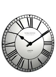 mirrored wall clock frameless large extra uk