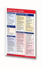 Patient History Checklist Medical Pocket Chart Quick