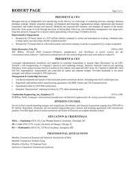 Resume Template Ceo Resume Examples Free Career Resume Template