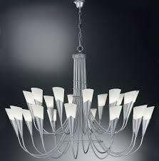 Großer Kronleuchter Mit Glasschirmen Von Hans Kögl