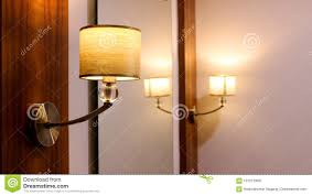 Side Table With Light Attached Dressing Table Lamp In Resort Stock Photo Image Of Cozy