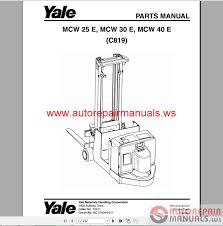 yale forklift full set pdf parts manuals auto repair manual