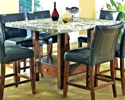 high top dining table with bench for 6 large size of room marble round and marb