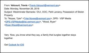 Email Gaffe Lands State Police Sergeant In Hot Water Vtdigger