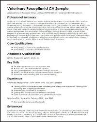 Resume For Receptionist Sample Similar Resumes Curriculum Vitae