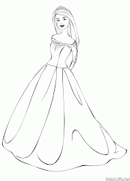 Small Picture Coloring Page Barbie Awesome Barbie Princess Coloring Page Beauty