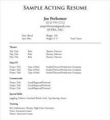 acting resume sample beginner 2 beginner acting resume sample