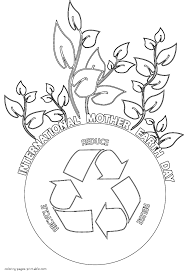 Earth Day Coloring Pages. Recycling New Printable Coloring Pages ...